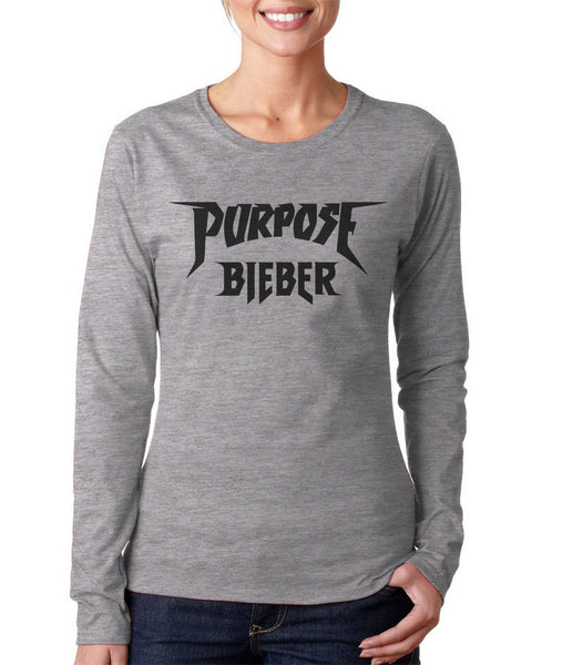 Purpose Bieber On FRONT Justin Bieber Long sleeve T-shirt for Women