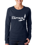 I'm a CAPTAIN On FRONT Harry potter Long sleeve T-shirt for Women