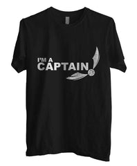 Captain Quidditch White ink Harry potter Unisex Men T-shirt - Meh. Geek