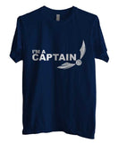 Captain Quidditch White ink Harry potter Men T-shirt