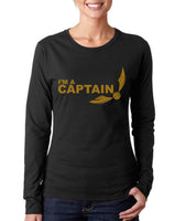 I'm a CAPTAIN YELLOW Ink On FRONT Harry potter Long sleeve T-shirt for Women