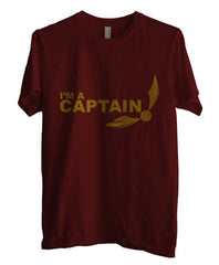 Captain Quidditch Yellow ink Harry potter Men T-shirt - Meh. Geek - 1