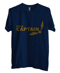 Captain Quidditch Yellow ink Harry potter Men T-shirt - Meh. Geek - 2