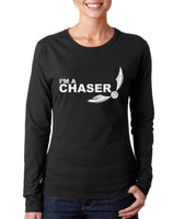 I'm a CHASER On FRONT Harry potter Long sleeve T-shirt for Women