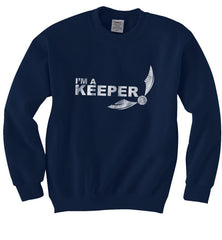 Keeper Quidditch White ink Harry potter Unisex Crewneck Sweatshirt - Meh. Geek
