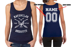 Customize - New Ravenclaw CAPTAIN Quidditch Team White ink Women Tank top