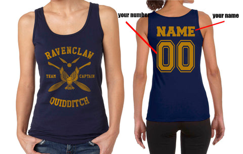 Customize - New Ravenclaw CAPTAIN Quidditch Team Yellow ink Women Tank top