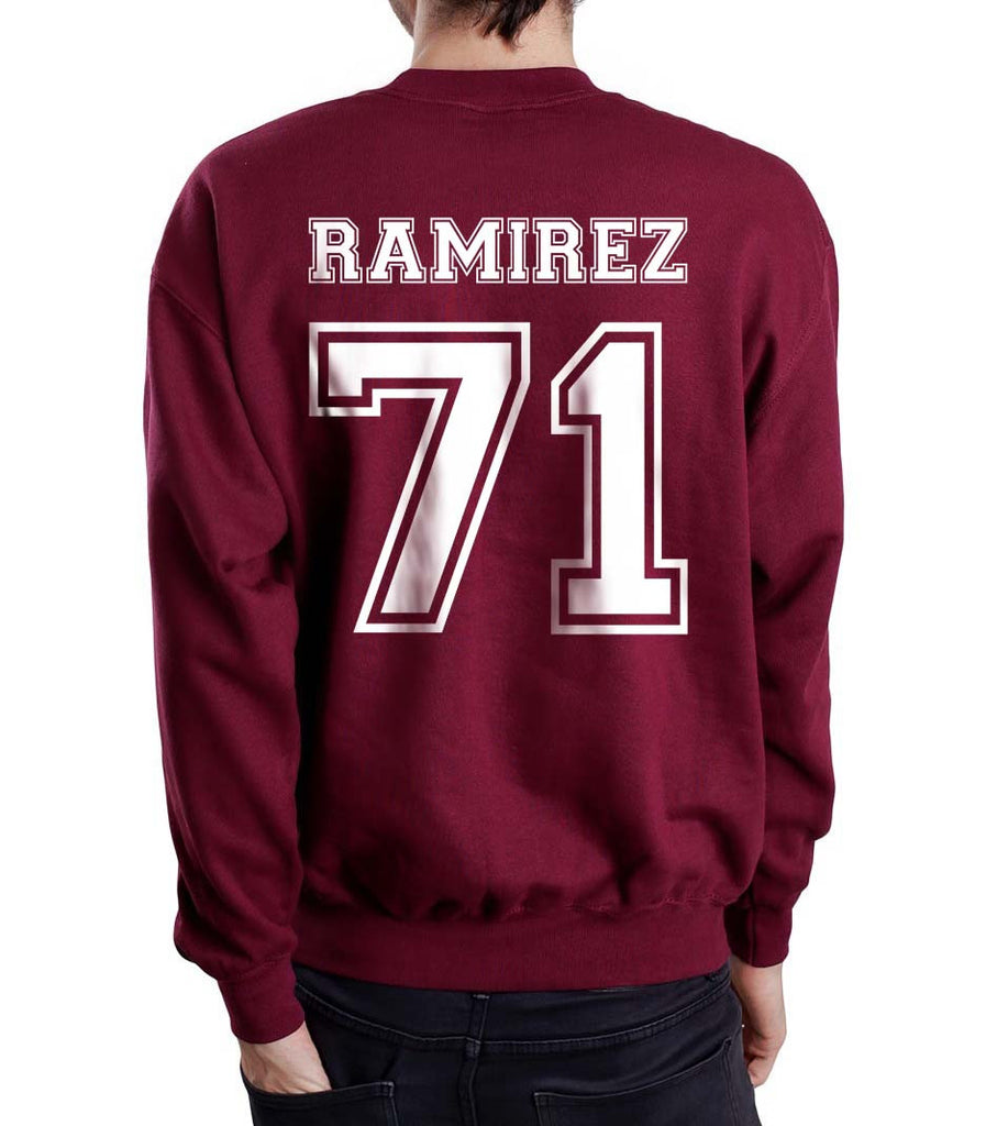 Ramirez 71 White Ink on Back Greys Anatomy Unisex Crewneck Sweatshirt - Meh. Geek