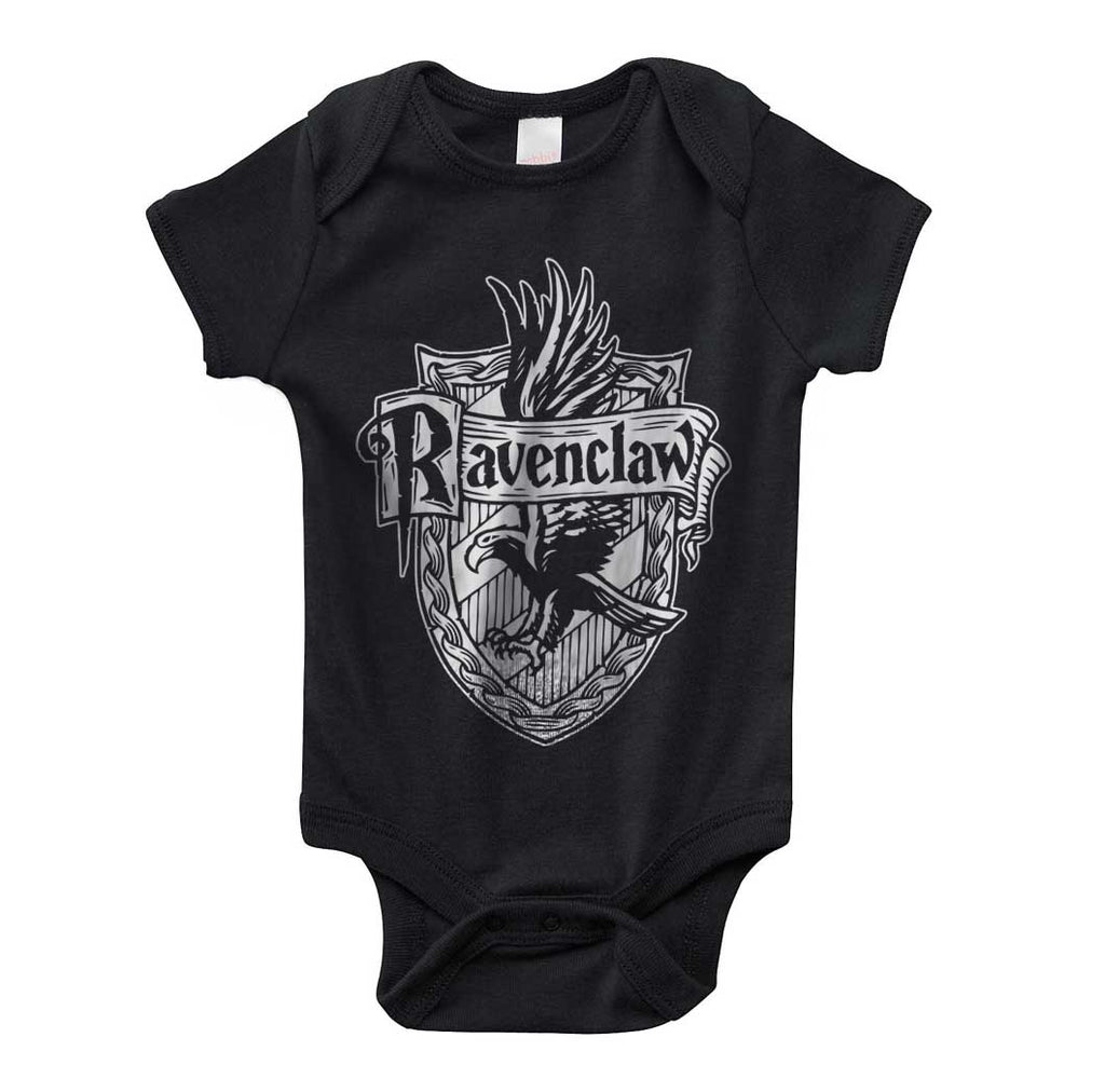Ravenclaw Crest #2 Bw Infant Baby Rib Lap Shoulder Creeper Onesies PA Crest