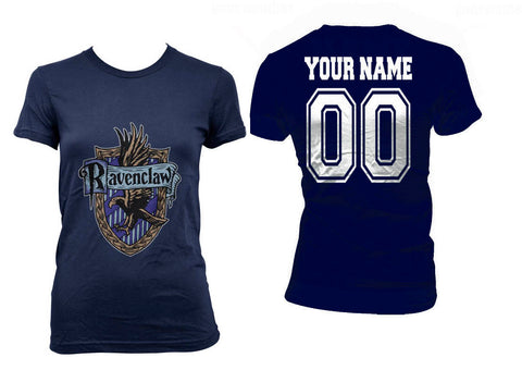 2d1064658 Customize - Ravenclaw Crest #2 White ink Women T-shirt Tee