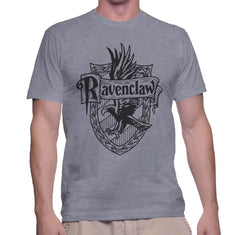 Customize - Ravenclaw Crest #2 Black ink Men T-shirt tee Sport Grey