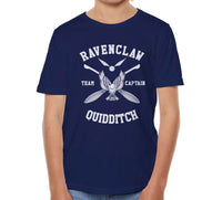 Ravenclaw CAPTAIN Quidditch Team White ink Kid / Youth T-shirt tee PA New