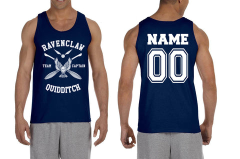Customize - New Ravenclaw White Ink CAPTAIN Quidditch Team Men Tank Top