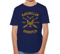Customize - New Ravenclaw CAPTAIN Quidditch Team Yellow ink Kid / Youth T-shirt tee