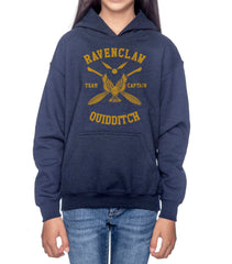 Customize - New Ravenclaw CAPTAIN Quidditch Yellow Team Kid / Youth Hoodie Navy