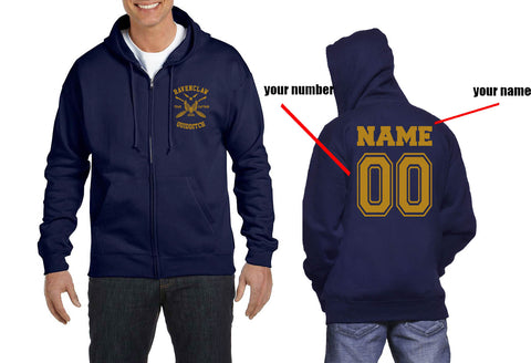 Customize - New Ravenclaw CAPTAIN Quidditch Team Yellow ink Unisex Zip Up Hoodie