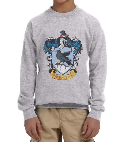 Ravenclaw #1 Crest Color Kid / Youth Crewneck Sweatshirt PA Crest