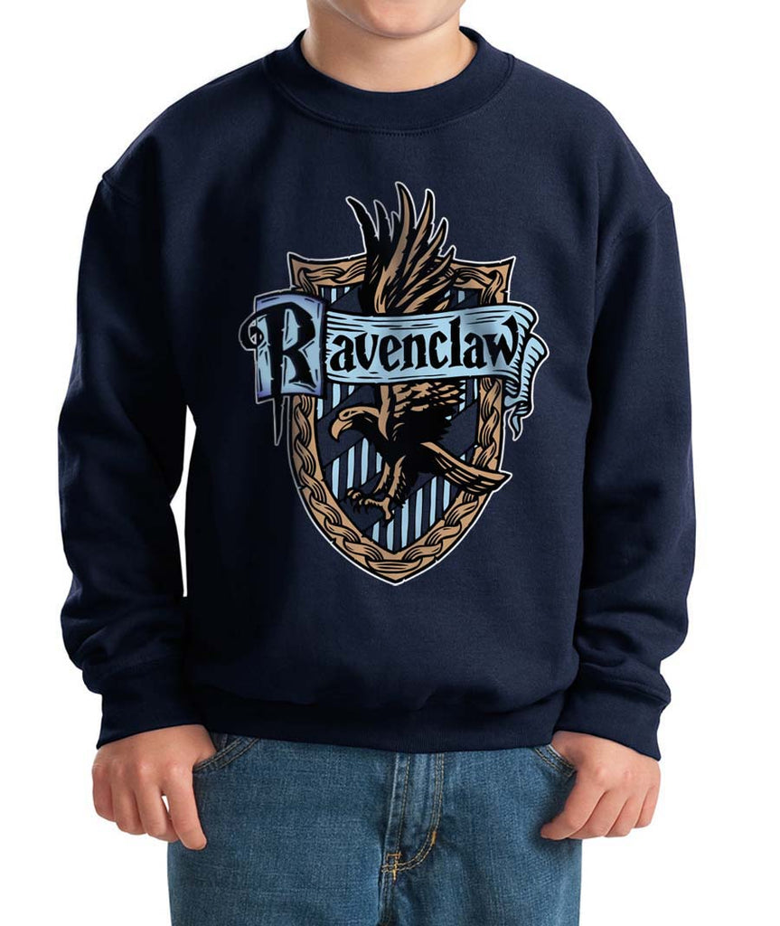 Ravenclaw #2 Crest Color Kid / Youth Crewneck Sweatshirt PA Crest