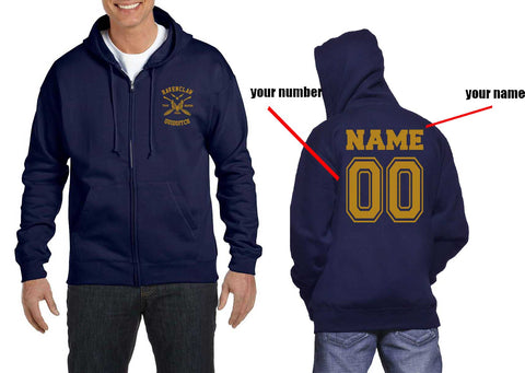 Customize - New Ravenclaw BEATER Quidditch Team Yellow ink Unisex Zip Up Hoodie