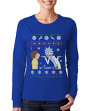 Rick And Morty To Get Schwifty Ugly Sweater Long sleeve Women T-shirt Tee