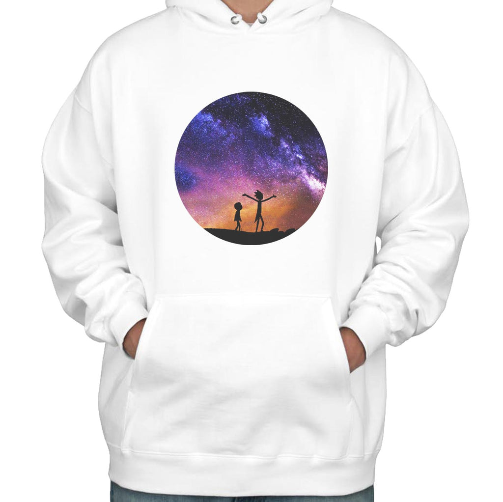 f24422d61 Rick and Morty Galaxy Space Unisex Pullover Hoodie – Meh. Geek