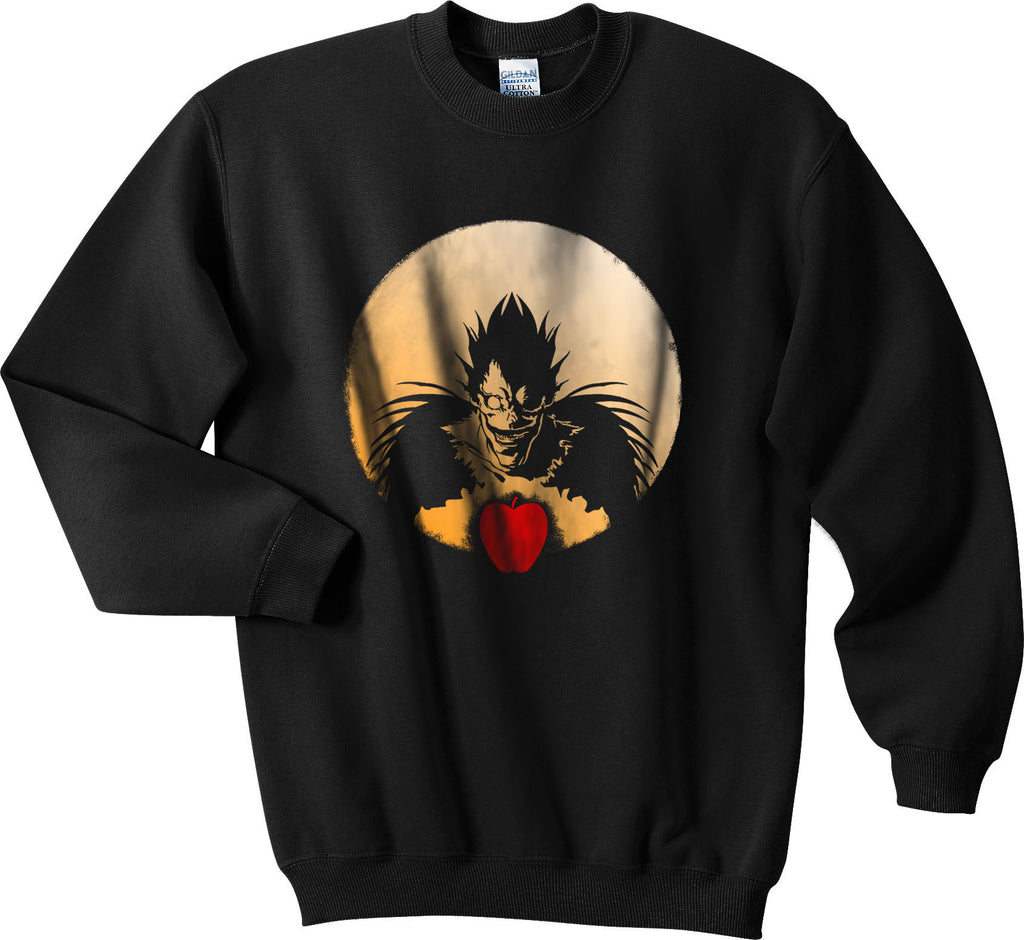 L Death Note Ryuk Apple Light Shinigami Unisex Crewneck Sweatshirt - Meh. Geek