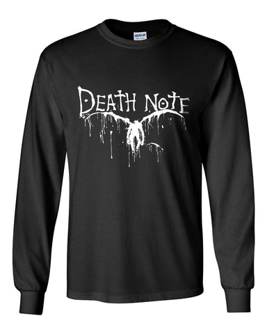 L Death Note Ryuk Shinigami Manga Anime Long Sleeve T-shirt for Men - Meh. Geek