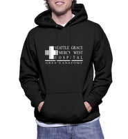 Seattle Grace Mercy West Hospital Unisex Pullover Hoodie - Meh. Geek - 2