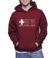 Seattle Grace Mercy West Hospital Unisex Pullover Hoodie - Meh. Geek - 5