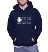 Seattle Grace Mercy West Hospital Unisex Pullover Hoodie - Meh. Geek - 1
