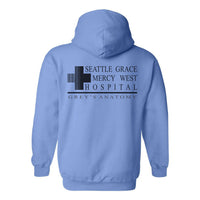 Seattle Grace Mercy West Hospital Back Only Unisex Zip Up Hoodie