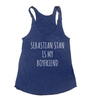 Sebastian Stan is My Boyfriend Triblend Racerback Women Tank Top