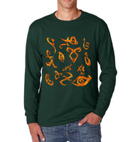 Shadowhunters Runes Checker Fire Long Sleeve T-shirt for Men