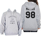 Mendes 98 on BACK Shawn Mendes Is My Boyfriend LOVE on FRONT Unisex Pullover Hoodie - Meh. Geek
