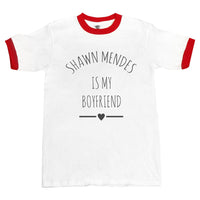 Shawn Mendes Is My Boyfriend Love Ringer Unisex T-shirt / tee