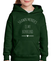 Shawn Mendes is my boyfriend love only Front Kid / Youth Hoodie