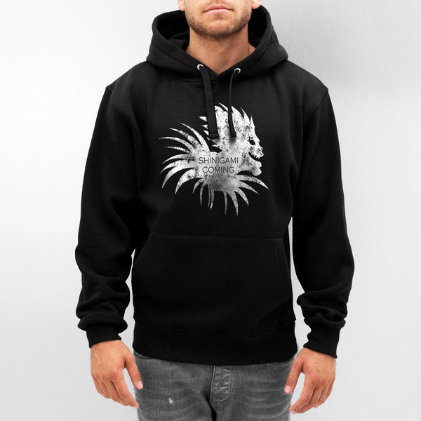 Shinigami Is Coming Death Note Light Unisex Pullover Hoodie - Meh. Geek