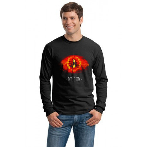 Sauron Detected Lord Of The Rings Long Sleeve T-shirt for Men - Meh. Geek