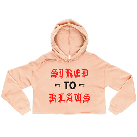 Sired To Klaus Cropped Hoodie