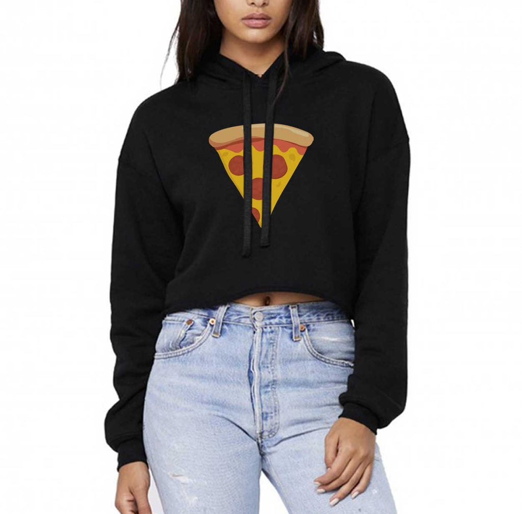 Slice of Pizza Cropped Hoodie