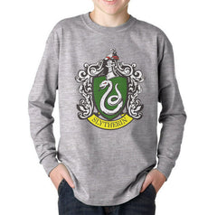 Slytherin Crest #1 Kid / Youth Long Sleeves T-shirt tee PA Crest