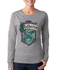 Slytherin #2 Color Team Long sleeve T-shirt for Women PA Crest