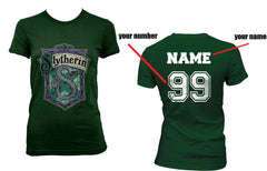 Customize - Slytherin Crest #2 Women T-shirt Forest PA