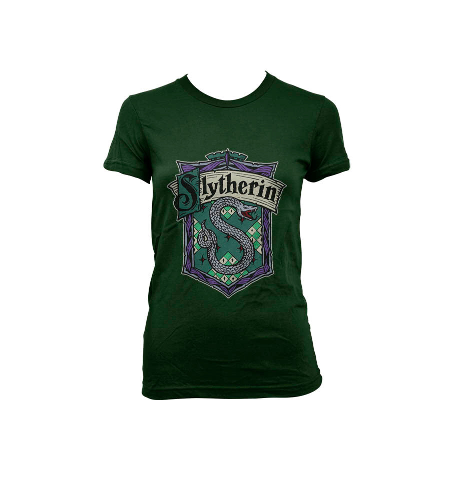 Slytherin Crest #2 Women T-shirt Forest PA Crest