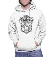 Slytherin #2 Crest Bw Unisex Pullover Hoodie PA Crest