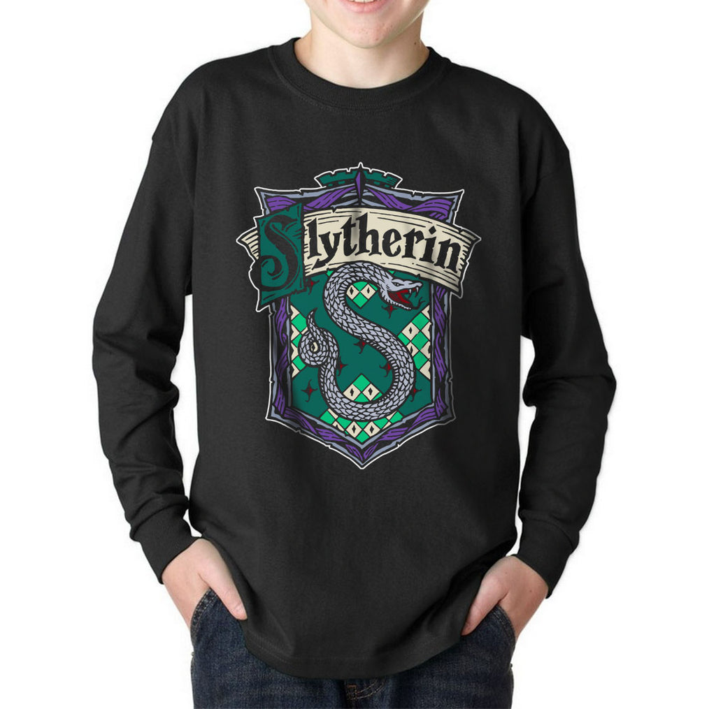 Slytherin Crest #2 Kid / Youth Long Sleeves T-shirt tee PA Crest