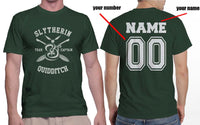 Customize - New Slytherin CAPTAIN Quidditch Team Men T-shirt