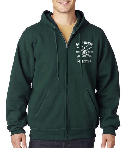 Slytherin CAPTAIN Quidditch Team Pocket size front only Unisex Zip Up Hoodie PA New