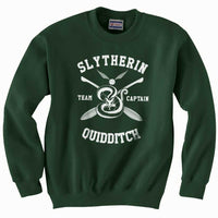 Customize - New Slytherin CAPTAIN Quidditch Team Unisex Crewneck Sweatshirt  (Adult)
