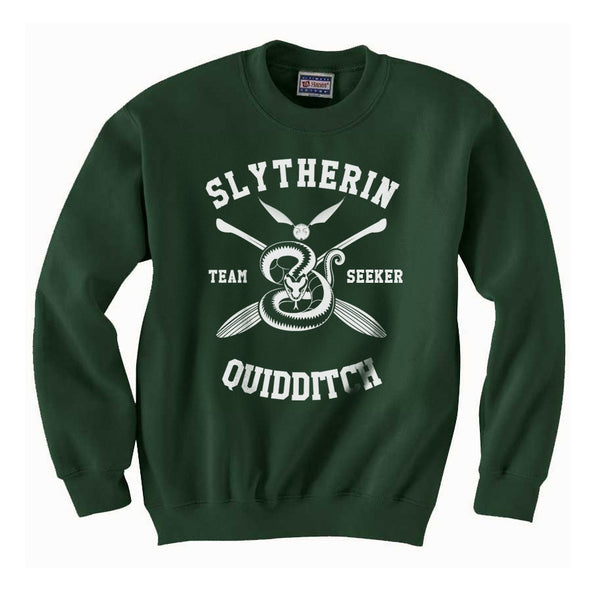 Slytherin SEEKER Quidditch Team Unisex Crewneck Sweatshirt PA New Adult
